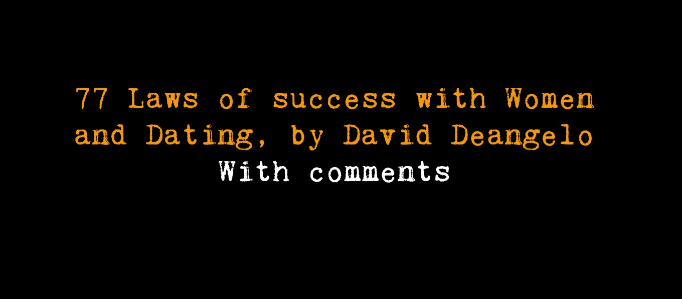 77 laws of success with women and dating audio