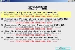 civilization hall of fame